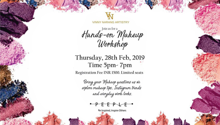 Hands on Makeup Workshop by Peeple Community